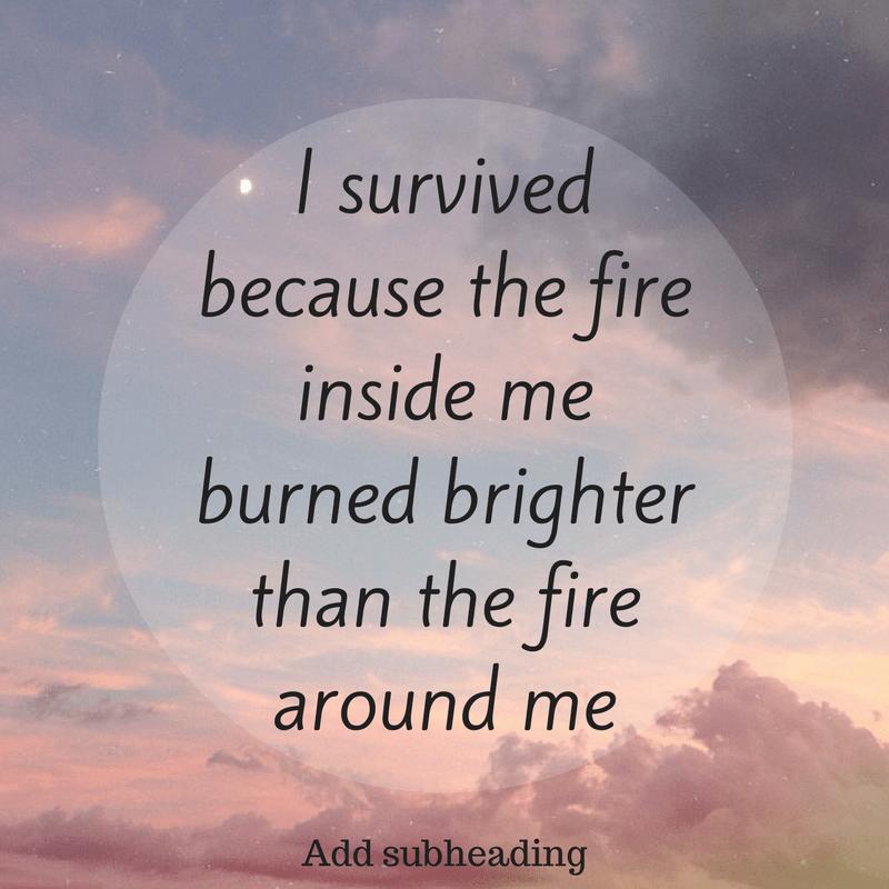I survived..