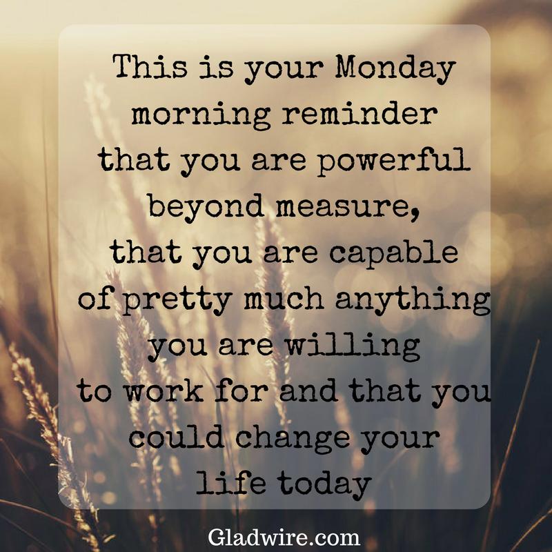 Monday Morning Reminder