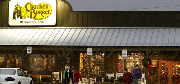 Wife fired from cracker barrel serving 11 yrs then the for How did cracker barrel get its name