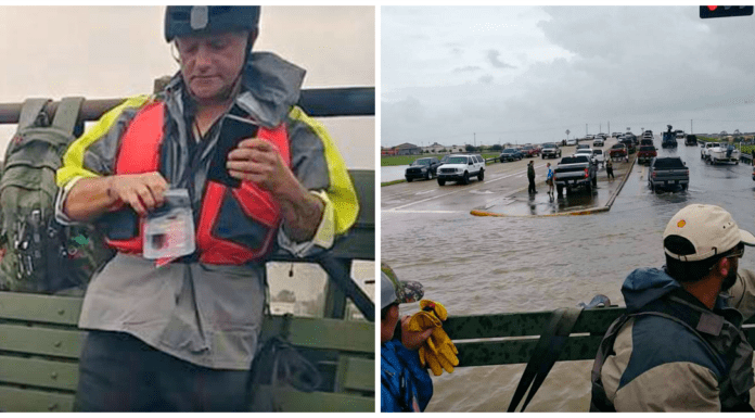 Louisiana Volunteers Go Above And Beyond To Rescue Texan Residents In Hurricane Harvey