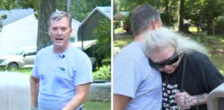 stranger gives blind women wonderful gift mailbox